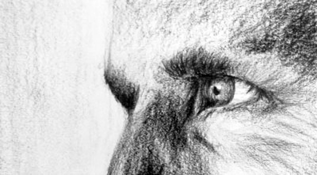 Eyes drawing by Georgie Flores